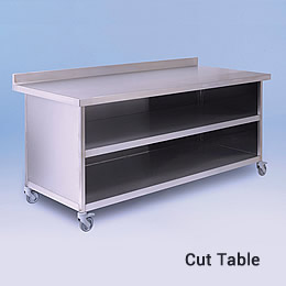 Photo of a cut table as supplied to Pizza Hut